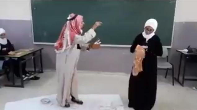 مسرح مدرسي - من ذاكرة جدي- للصف التاسع مدرسة شهداء بني نعيم - المعلمة ر...